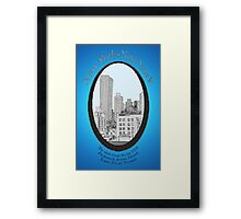 NYC the view from our hotel room Framed Print