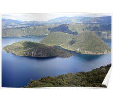 Lake Cuicocha Colors Poster