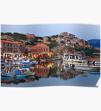 The beauty of Molyvos reflected Poster