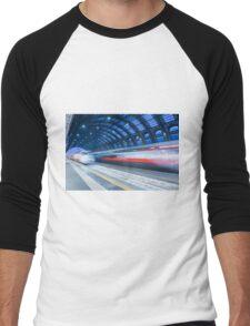 Train station Men's Baseball ¾ T-Shirt