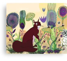 squirrel and plants Canvas Print