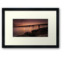 Bribie Bridge Framed Print