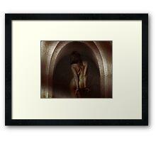 Woman cuffed Framed Print