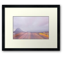 Lugano in dusk Framed Print