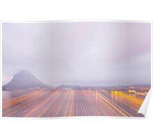 Lugano in dusk Poster