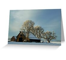 Another Day On The Farm ~ Snow ~ Greeting Card