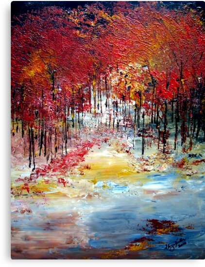 Trees in autumn by Elizabeth Kendall