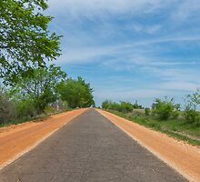 """Ribbon Road"", a.k.a. ""Sidewalk highway"", on Route 66, Miami, OK by swtrekker"