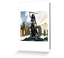 Raise Of Celts Greeting Card