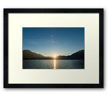 Alpine lake Framed Print