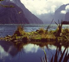 Milford Sound in Fiordland National Park Sticker