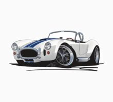 AC / Shelby Cobra White (Blue Stripes) by Richard Yeomans