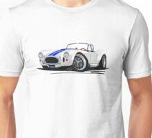 AC / Shelby Cobra White (Blue Stripes) Unisex T-Shirt
