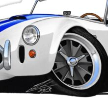 AC / Shelby Cobra White (Blue Stripes) Sticker