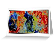 Corrosion of Realities Fabric Greeting Card