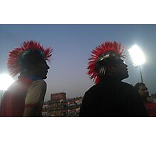 Cricket Fans.  Photographic Print