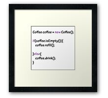 Coffee - code Framed Print