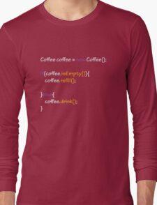 Coffee - code Long Sleeve T-Shirt