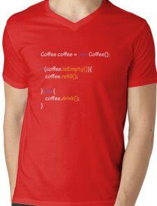 Coffee - code Mens V-Neck T-Shirt