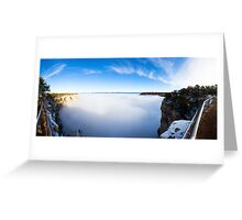Rare Grand Canyon covered with fog, panoramic Greeting Card