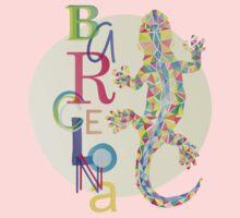 Fashion Barcelona City Lizard Baby Tee