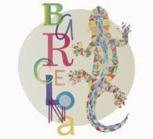 Fashion Barcelona City Lizard Kids Tee