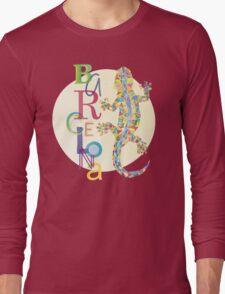 Fashion Barcelona City Lizard Long Sleeve T-Shirt