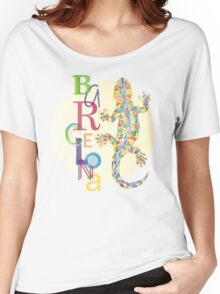Fashion Barcelona City Lizard Women's Relaxed Fit T-Shirt
