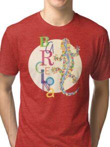 Fashion Barcelona City Lizard Tri-blend T-Shirt
