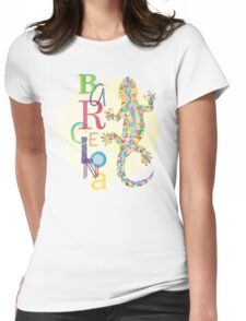 Fashion Barcelona City Lizard Womens Fitted T-Shirt