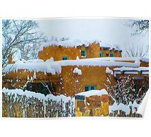 Santa Fe Snowstorm Poster