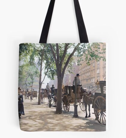 Cab Stand at Madison Square Garden, 1900 Tote Bag