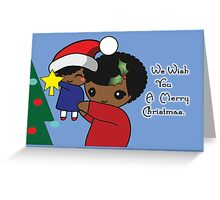 Single Parent Christmas Card - African American Greeting Card