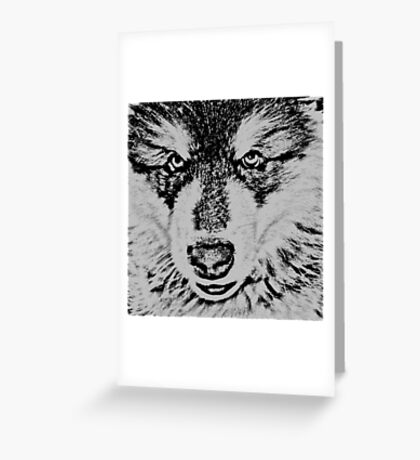 Malamute Greeting Card