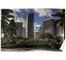 Miami Skyscrapers Poster