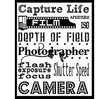 Photographer Subway Art Photographic Print
