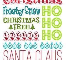 Christmas Subway Art by DanaElyse