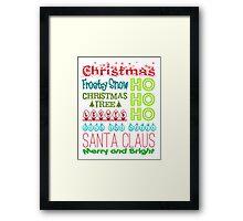 Christmas Subway Art Framed Print