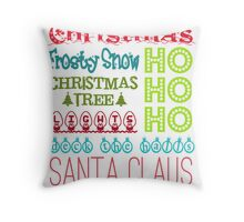 Christmas Subway Art Throw Pillow