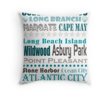 Jersey Shore Subway Art Throw Pillow