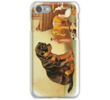 Cute Victorian puppy, wooden toys iPhone Case/Skin