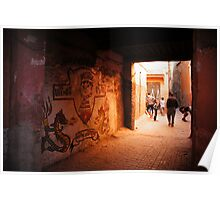 The Alleys of Marrakesh Poster