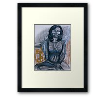 figure goes abstracted . . . .  Framed Print