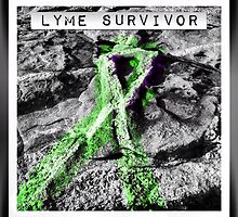 Lyme Disease Survivor Ribbon  by angbet31