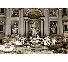 Rome - The Trevi Fountain at night Photographic Print