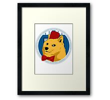 Wow Such Timelord! Framed Print