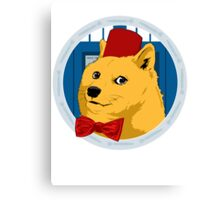 Wow Such Timelord! Canvas Print