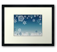 Blue Background with Snowflakes 7 Framed Print