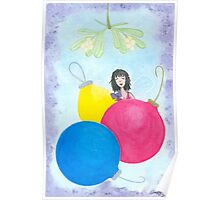 The Fairy Lolly Gives Winter Kisses and Holiday Wishes Poster