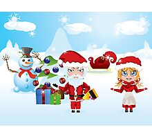 Santa and Mrs Claus Photographic Print